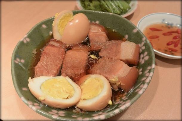 Caramelized pork and eggs